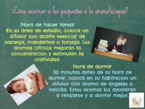 Tip Aromarte. Aromaterapia para niños. Manzanillo No. 112, Roma Sur, esq. Tepic. ventas@aromarte.com para pedidos en línea. Llévamos a todo México.