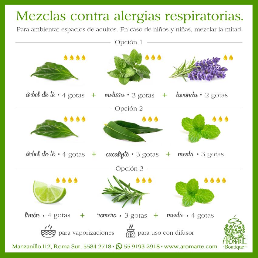 Mezclas Aromáticas para Alergias Respiratorias